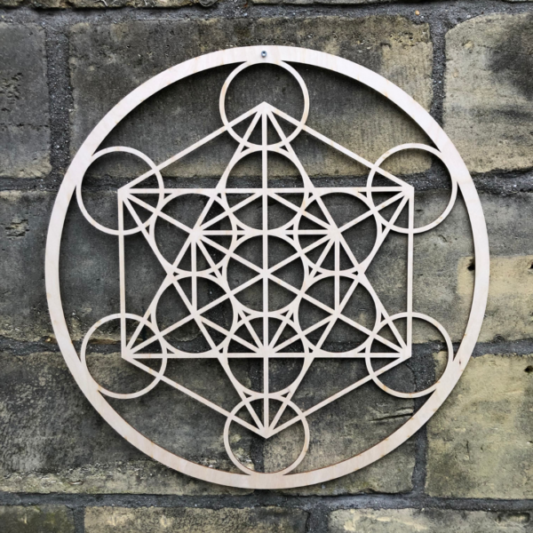 Kubus van Metratron the cube of metatron berken 59 cm